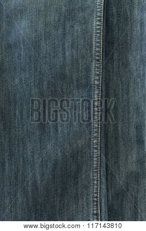 Jeans Texture With Seams For Background