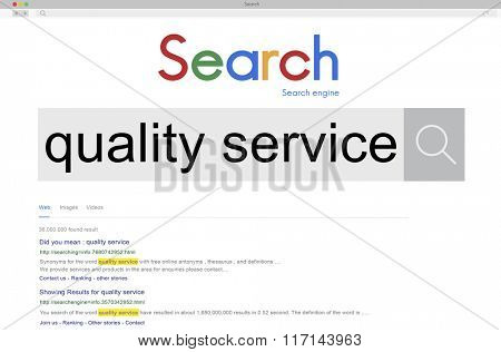 Quality Service Care Assistance Satisfaction Grade Concept