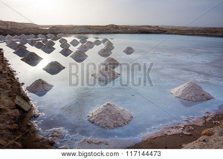 Salt pits Cape Verde, Africa