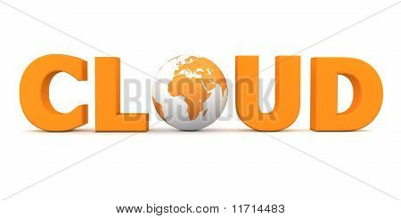 Cloud World Orange