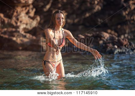 Woman and sea
