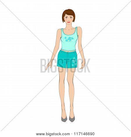 Women sleepwear flat icon