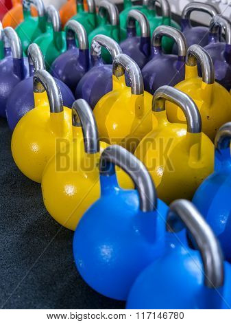 Kettlebells At A Gym