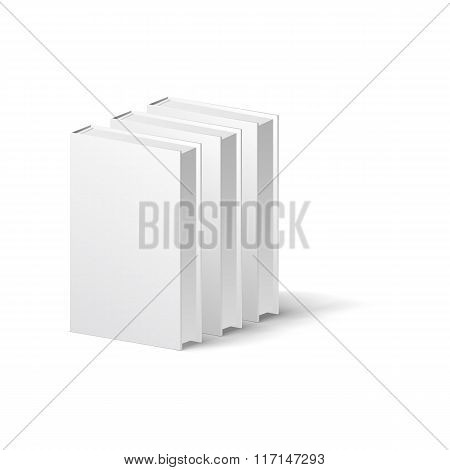 Three blank books