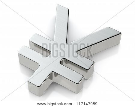 Metallic Yen Symbol