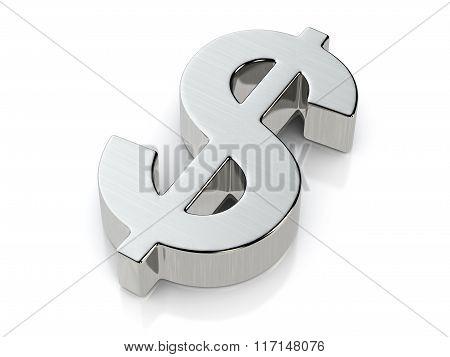 Metallic Dollar Symbol