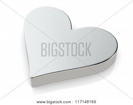 Metallic Heart Symbol