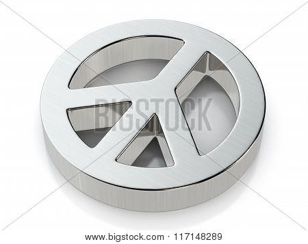 Metallic Peace Symbol