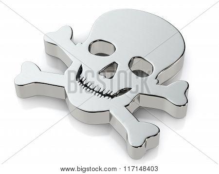 Metallic Skull Symbol