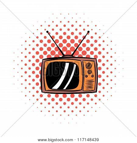 Old TV comics icon