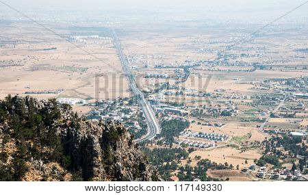 Nicosia Area District Scenery Cyprus.