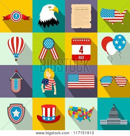 Independence day flat icons
