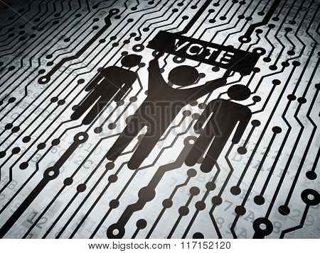 Political concept: circuit board with Election Campaign