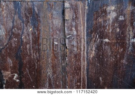 a rusty metal