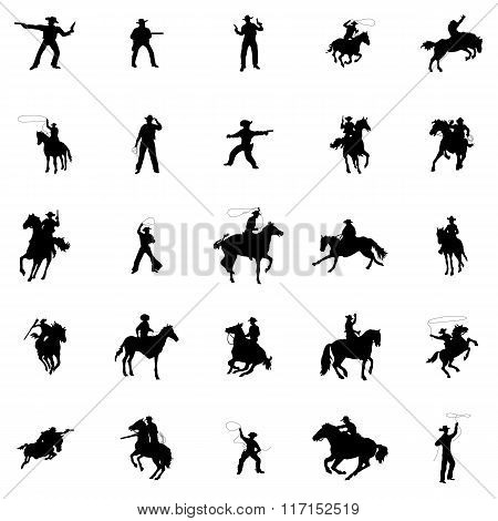 Cowboy silhouette set. Cowboy silhouette icons. Cowboy silhouette signs. Cowboy silhouettes art. Cowboy icons. Cowboy icons art. Cowboy icons web. Cowboy icons new. Cowboy icons www. Cowboy icons app