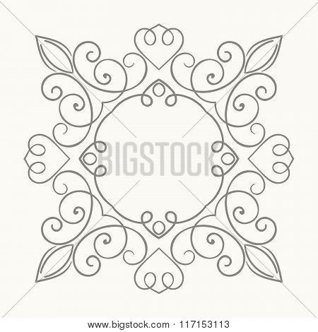 Elegant luxury retro floral frame.