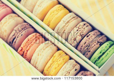 macarons toned photo
