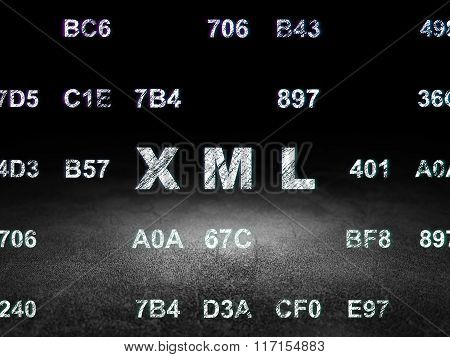 Programming concept: Xml in grunge dark room