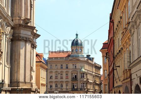 Typical Building Facade In Mala Strana (lesser Town), Prague