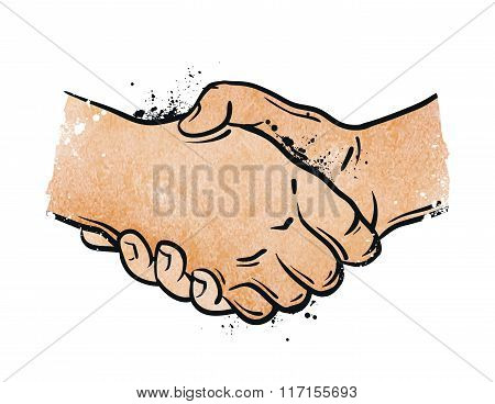 handshake. vector illustration