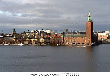 The City Hall In Central Stockholm