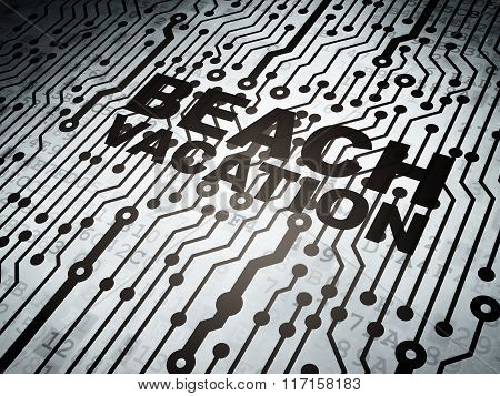 Tourism concept: circuit board with Beach Vacation