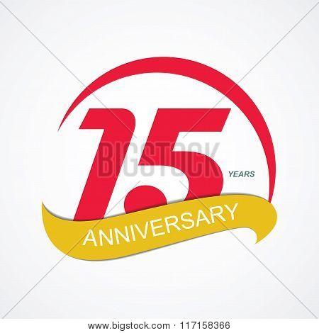 Template Logo 15 Anniversary Vector Illustration