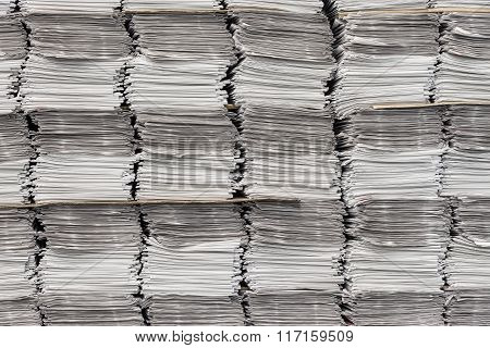 Newspaper Stacks As Background