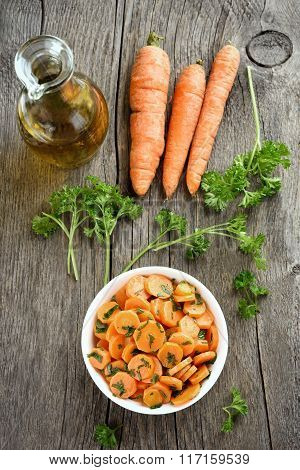 Carrot Salad And Ingredients