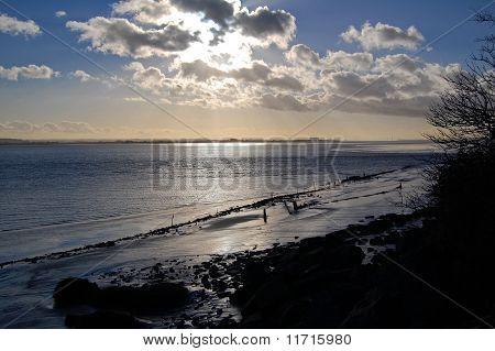 Winter Sun Over Severn