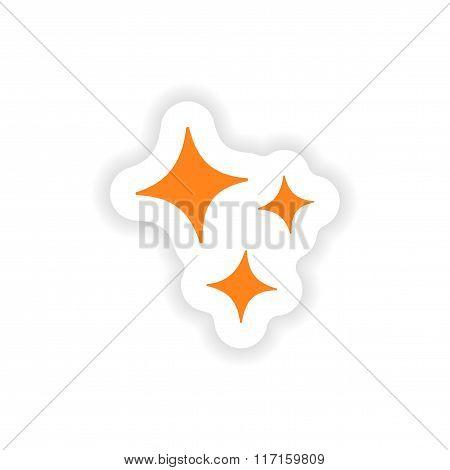icon sticker realistic design on paper shine