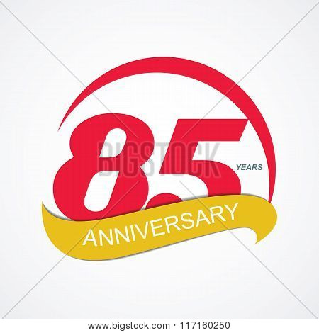 Template Logo 85 Anniversary Vector Illustration
