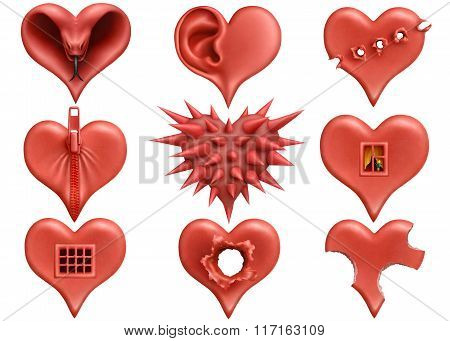 3D Hearts Collection