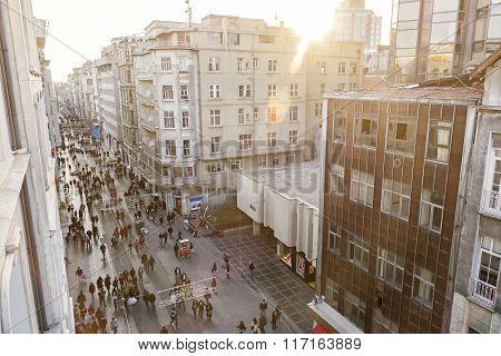 Istiklal Caddesi (Istiklal Avenue), Istanbul, Turkey