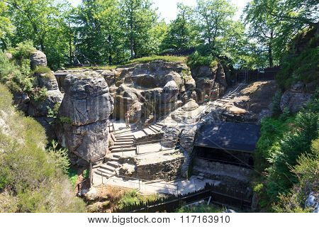 Neurathen Castle At Rocks Bastei In Rathen, Saxon Switzerland