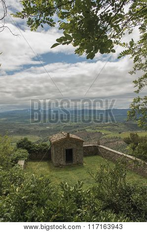 Stone cottage amidst the Tuscany