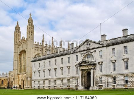 Buildings In The King's College In Cambridge