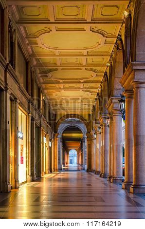 Turin (torino), Typical Arcades In The Historic Old City Centre