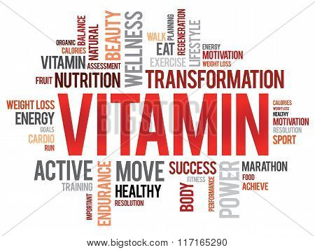 Vitamin Word Cloud