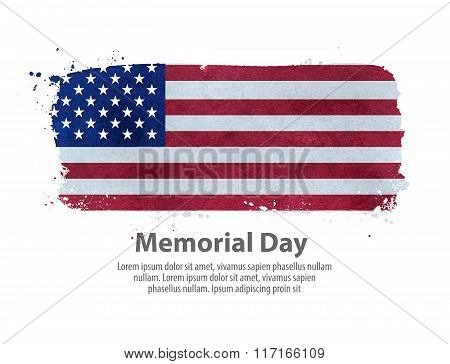 memorial day. flag United States. vector illustration