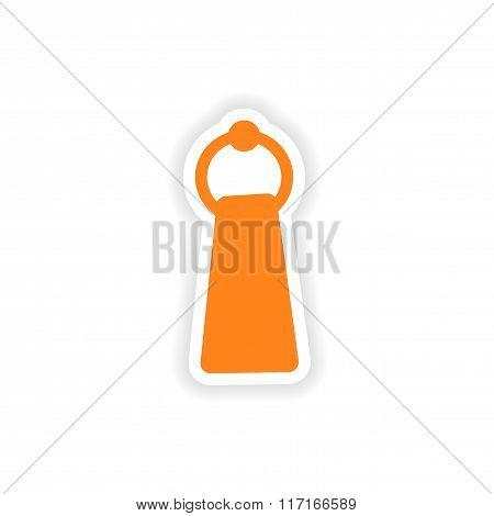 icon sticker realistic design on paper towel
