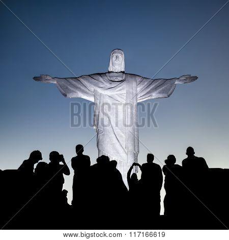 Christ the Redeemer statue in Rio de Janeiro , Brazil