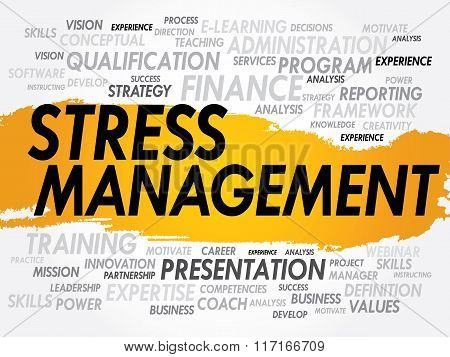 Business concept word cloud collage, presentation background
