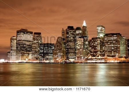 Skyline de Manhattan à noite