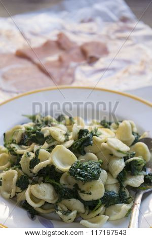 Fresh Orecchiette With Broccoli Rabe