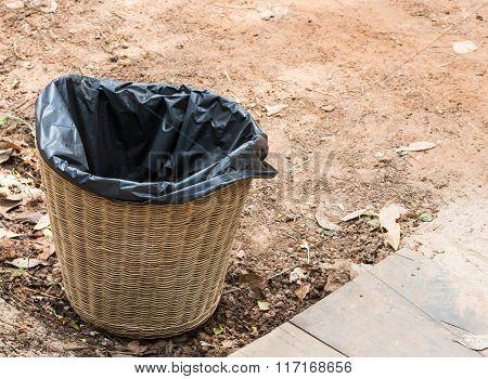 Wicker Basket Bin