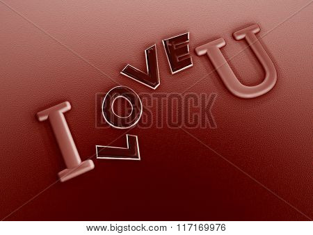 Dimensional Inscription Of I Love You