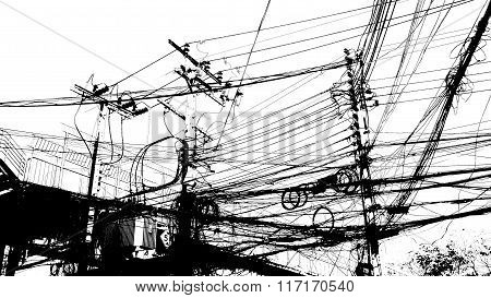 Electronic And Cable Line Baffling Graphic