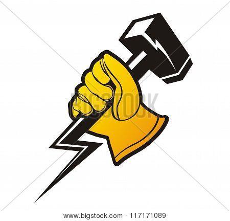 gloves hammer