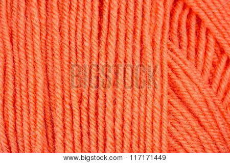 Woolen yarn close up